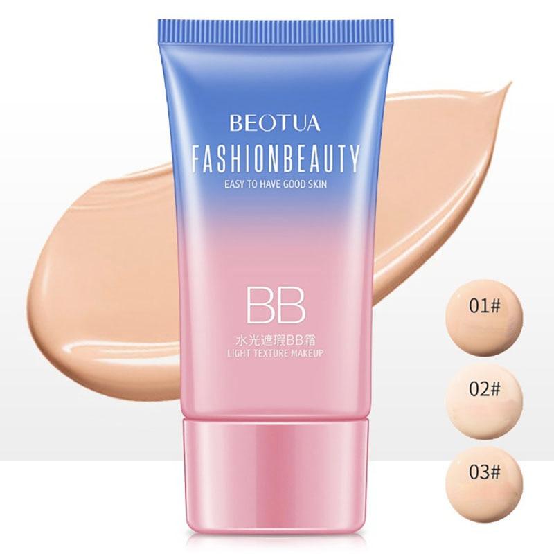Nueva crema BB SPF50 + corrector aislamiento protector solar blanqueamiento hidratante cara limpia belleza base maquillaje facial belleza maquillaje