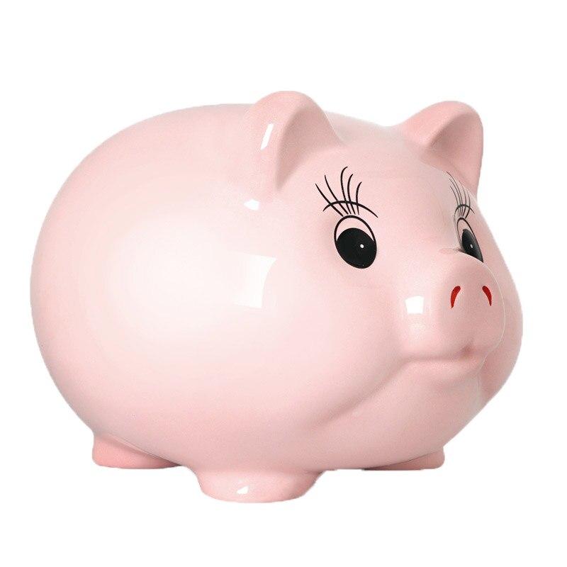 9  Inches Ceramic Piggy Bank ,Coin Bank , Large Capacity Money Bank Saving Pot Money Box for Kids , Home Decor Ornament