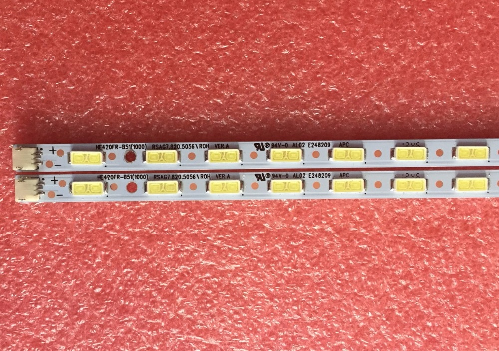 100% Новинка 475 мм Светодиодная подсветка лампа полоса 35 светодиодов для Hisense 42-дюймового телевизора LED42G310 RSAG7.820.4983