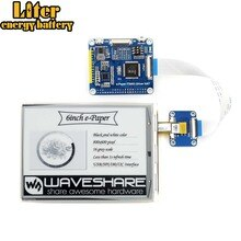 Waveshare 6 pouces e-ink chapeau daffichage pour Raspberry Pi, 800*600, IT8951controller, interface USB/SPI/I80/I2C, affichage clair