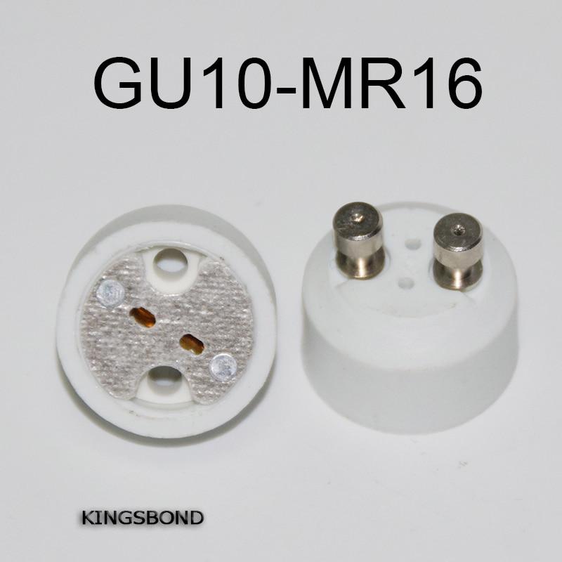 Envío gratis 10 Uds base de lámpara led MR16 enchufe GU10 a MR16 convertidor adaptador soporte para bombilla led