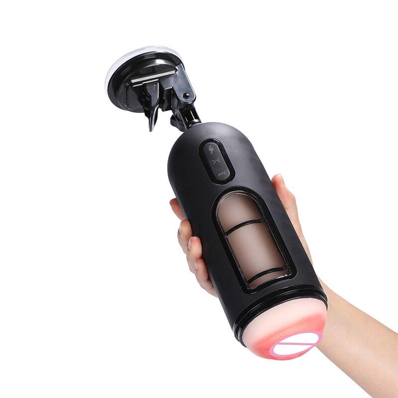Hombre manos libres Vagina realista voz vibrante fuerte succión Mastorbation avión taza pasión taza masturbador masculino herramienta sexual