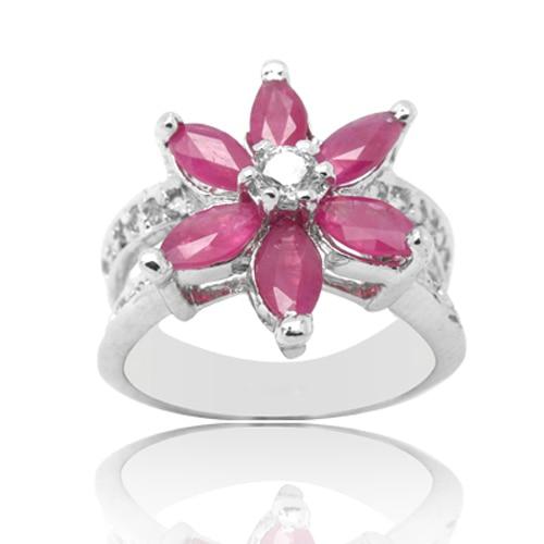Anillos Qi Xuan_Red Flor de piedra Rings_Real rojo Rings_S925 sólido plateado de moda rojo Rings_Manufacturer directamente ventas