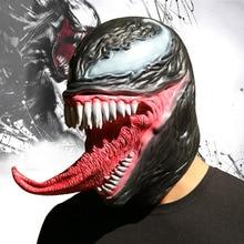 Spiderman masque de venin Cosplay Eddie Brock super-héros Hemlet Halloween accessoires en Latex