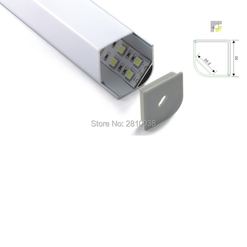 500 X 1M Sets/Lot 30mm large size right angled led aluminum profile channel and 90 corner aluminum led profiles for kitchen lamp