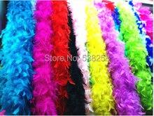 Ree verzending 20 Stks/partij 200 cm 40g turkije Strip Wedding Marabou Boa mix kleuren