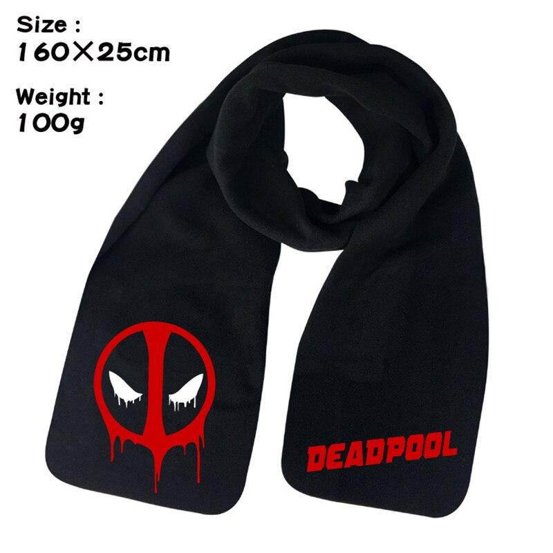 Dead Pool Super Hero Comic Anime Winter Men Women Unisex Warm Shawl Scarf Soft Wrap
