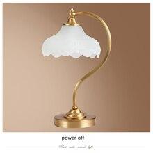 Free Shipping American bedroom table light foyer European table lamp Modern Led Copper Desk Lamp Reading Table Lamp