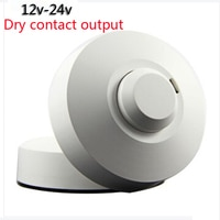 DC12V-24V Dry contact output LED Microwave 360 Degree Radar motion Sensor Light Switch Ceiling light Body Motion Detector