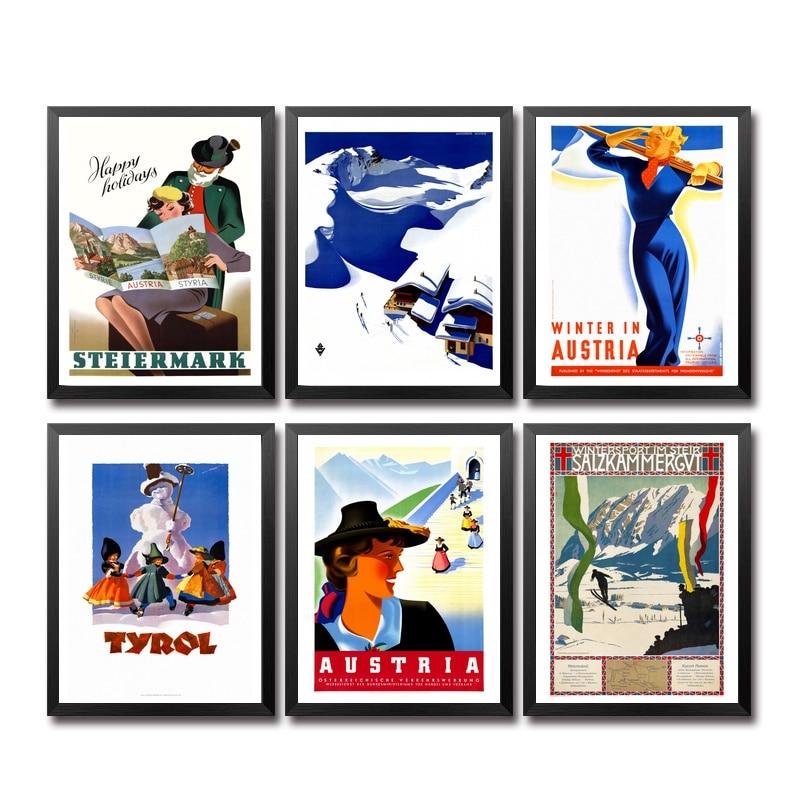 Áustria Bélgica Batavia Cáucaso o Cartaz do Curso Do Vintage