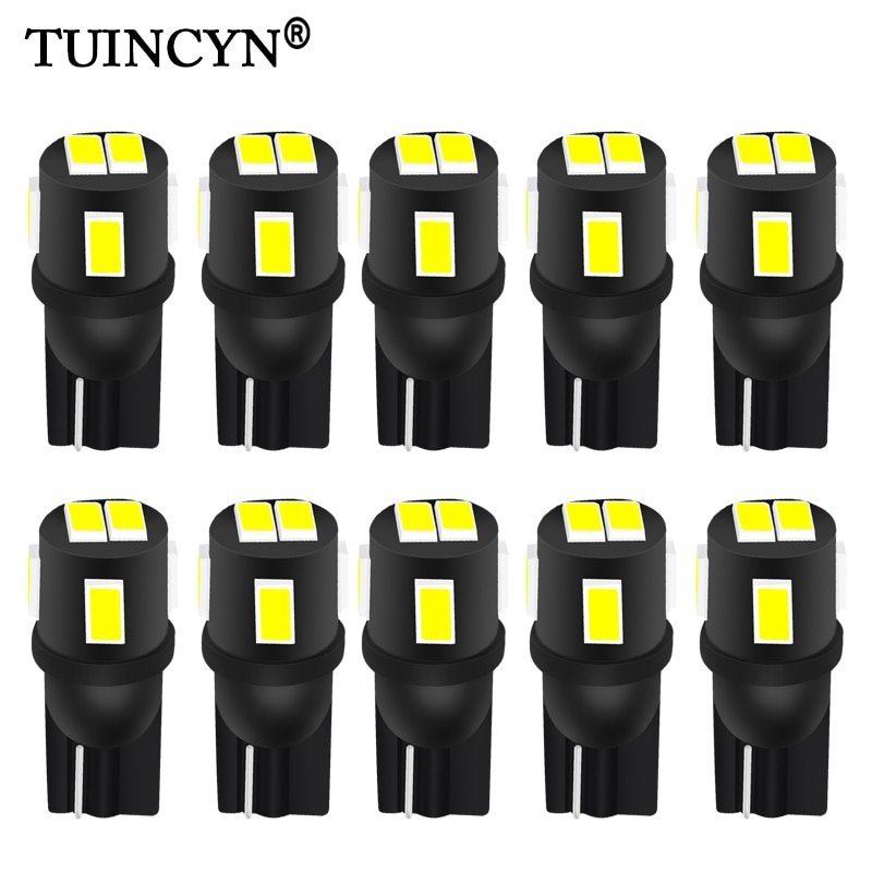 TUINCYN 10x T10 W5W Led Bulb 194 168 Auto Led Bulb Car Interior Dome Reading Lamp License Plate Light Clearance 6000K White 12V xigyte t10 led car w5w light bulb t10 12v car accessories interior light 6000k white clearance light for car styling motorcycle