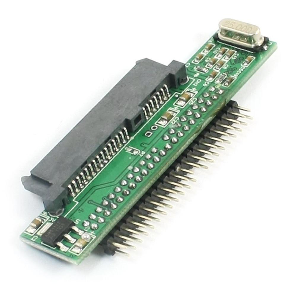 "7 + 15 Pin SATA SSD HDD Female до 2,5 ""44Pin IDE Мужской адаптер для ноутбука"