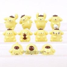 Mignon Pom Purin boudin chien Mini PVC Figures dessin animé animaux jouets 11 pièces/ensemble 2 ~ 4 cm