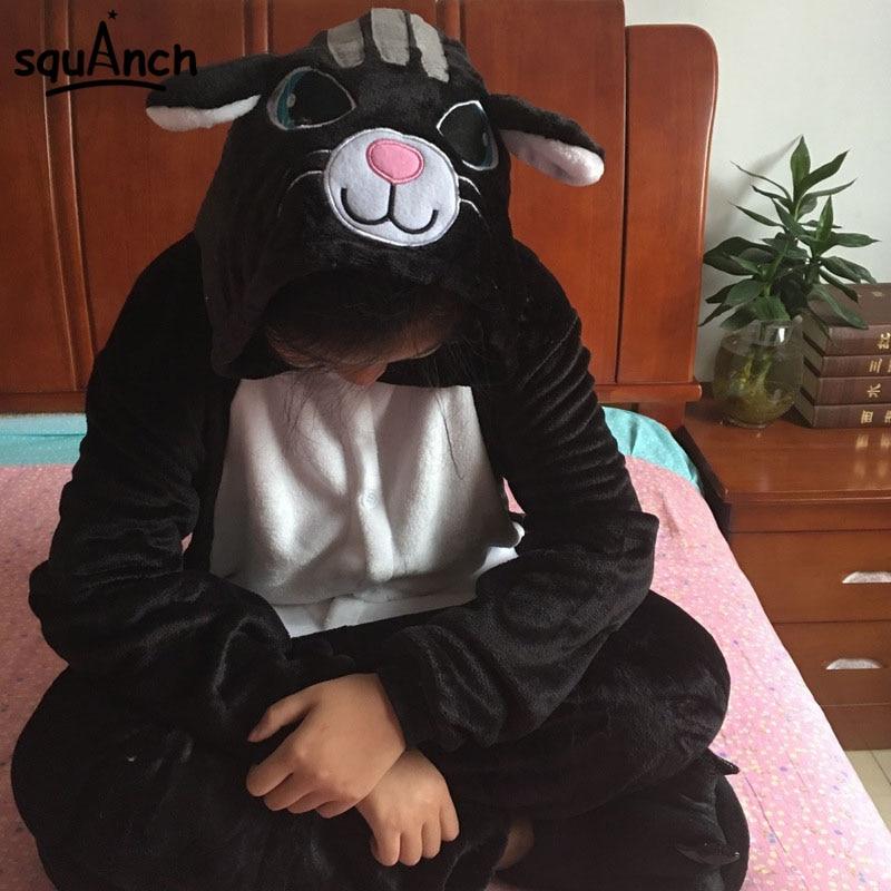 بذلة نوم على شكل قطة سوداء للرجال والنساء برسوم كرتونية مناسبة للحفلات ملابس لعب ومهرجانات مضحكة