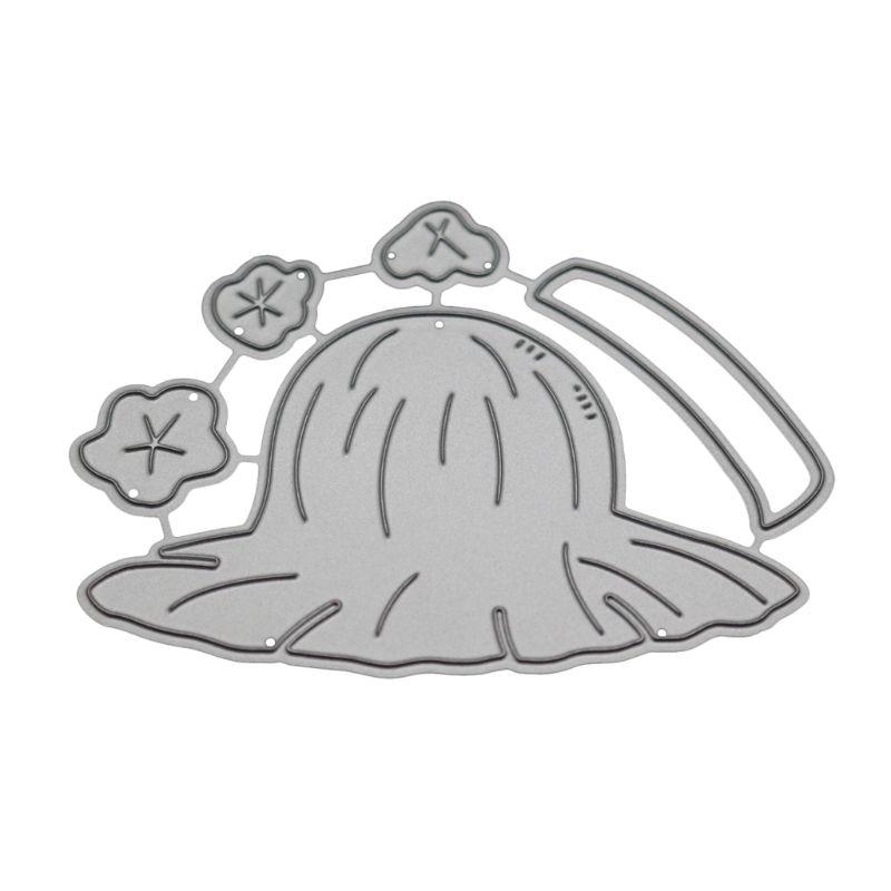 Chapéu de palha corte de metal morre estêncil diy scrapbooking álbum carimbo de papel cartão de gravação artesanato decoração