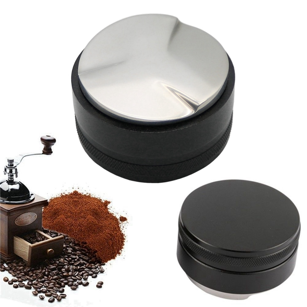 موزع مسحوق إسبريسو مقاس 58 مللي متر مع مدقة قهوة ثلاثية الزوايا ، شحن مجاني