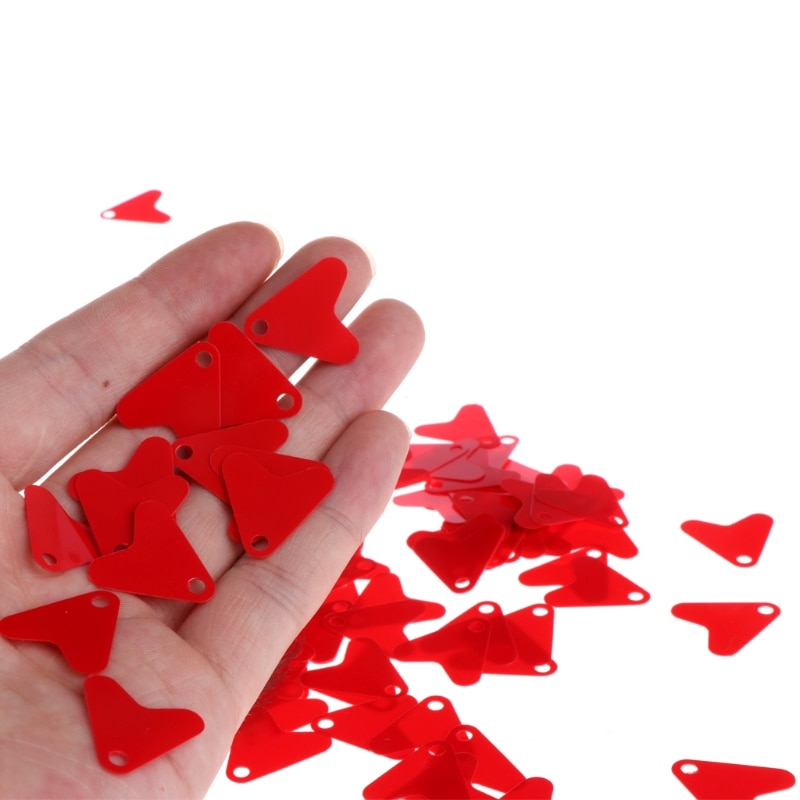 100 шт./лот пластик красное сердце 21 мм 16 мм форма блесток аксессуар для приманки ложка рыболовная приманка крючок Приманка рыболовная приманка крючок