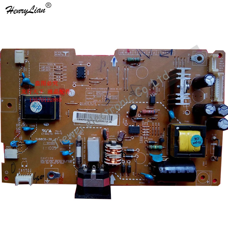 HENRYLIAN (Jiewei) W1946 E148279 2 de encendido para lámpara tablero de suministros EAX61376903/0 TU68C8-3B de placa de alta presión
