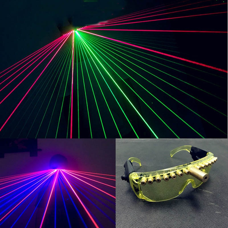 Party Glowing Glasses DJ Nightclub Performers Luminescent Laser Glasses Bar Party Music Laser Game Dance Fluorescent Props