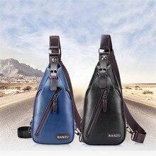 Hommes Theftproof ouvert poitrine sacs mode décontracté sac à bandoulière épaule Sport sacs en polyuréthane poitrine taille Pack