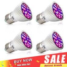 4 unids/lote de espectro completo 28W LED Luz de cultivo E27 E14 GU10 SMD5730 lámpara de planta para plántulas vegetales flores hidropónicas bulbos de cultivo