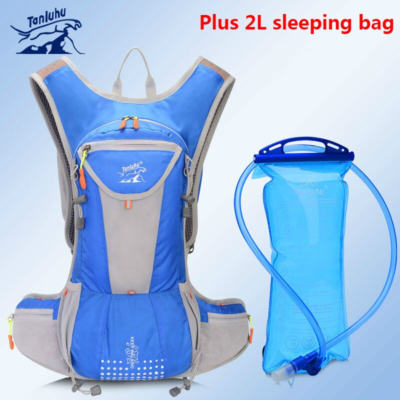 TANLUHU 15L, ciclismo deportivo al aire libre, mochila ligera transpirable, mochila para correr Maratón, tetera, más equipo de bolsa de agua 2L