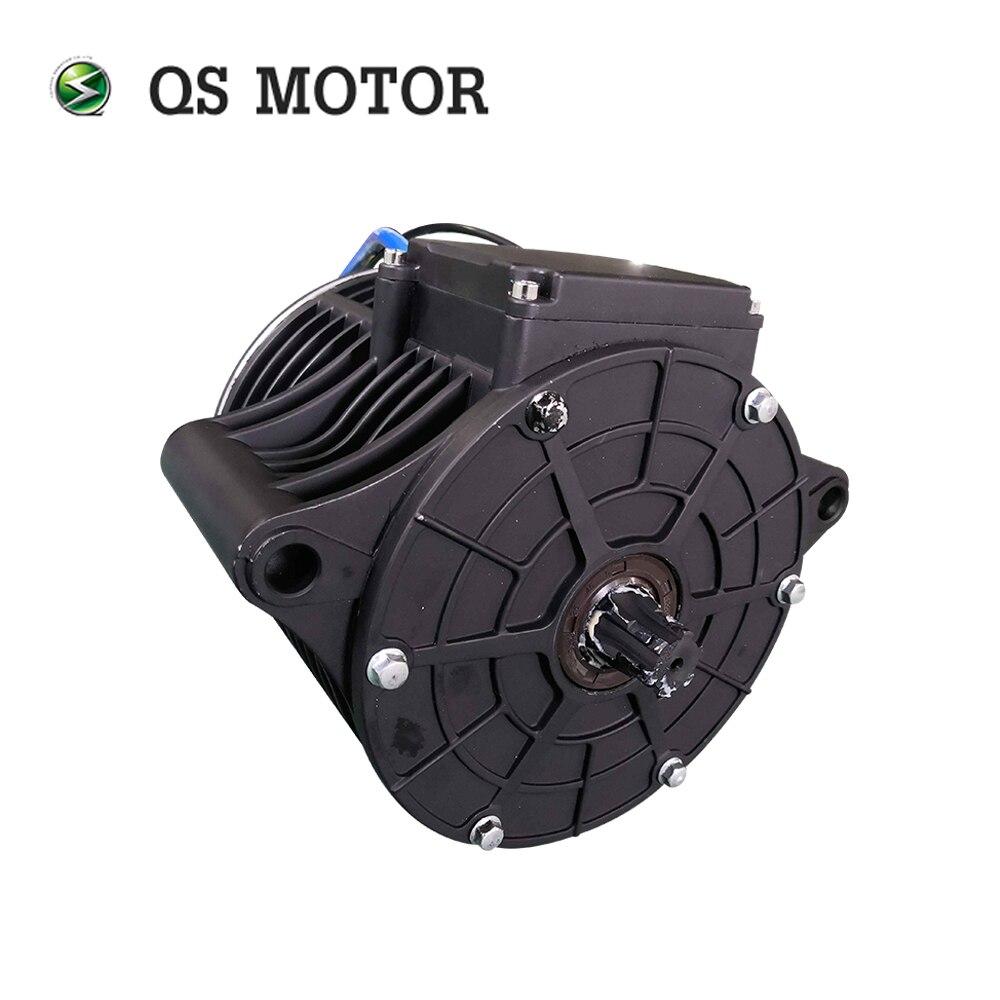 QS MOTOR 138 3000W new version mid drive motor sprocket 428 and EM150SP controller for electric motorbike Z6 100KPH 72V enlarge