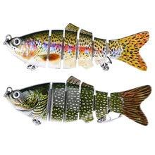 1PCS Fishing Lure Multi Jointed Hard Bait 10cm 18g Lifelike joint bait wobbler 6 Segments Swimbait Fishing Lure Crankbait