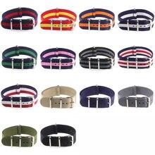 Activité chaude de haute qualité 18mm 20mm 22mm marine blanc rouge pour plongeur 3 gardiens otan bracelet en Nylon étanche bracelet de montre