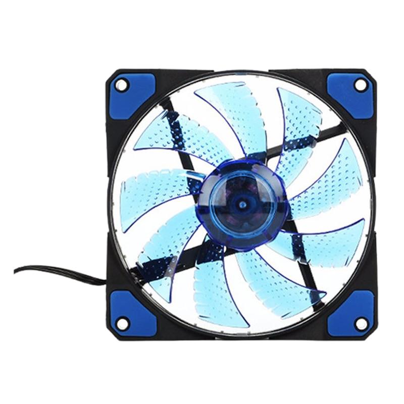 120mm PC Computer 16dB Ultra Silent 33 LEDs Case Fan Heatsink Cooler Cooling with Anti-Vibration Rubber 12CM Fan 12VDC 3P  4pin