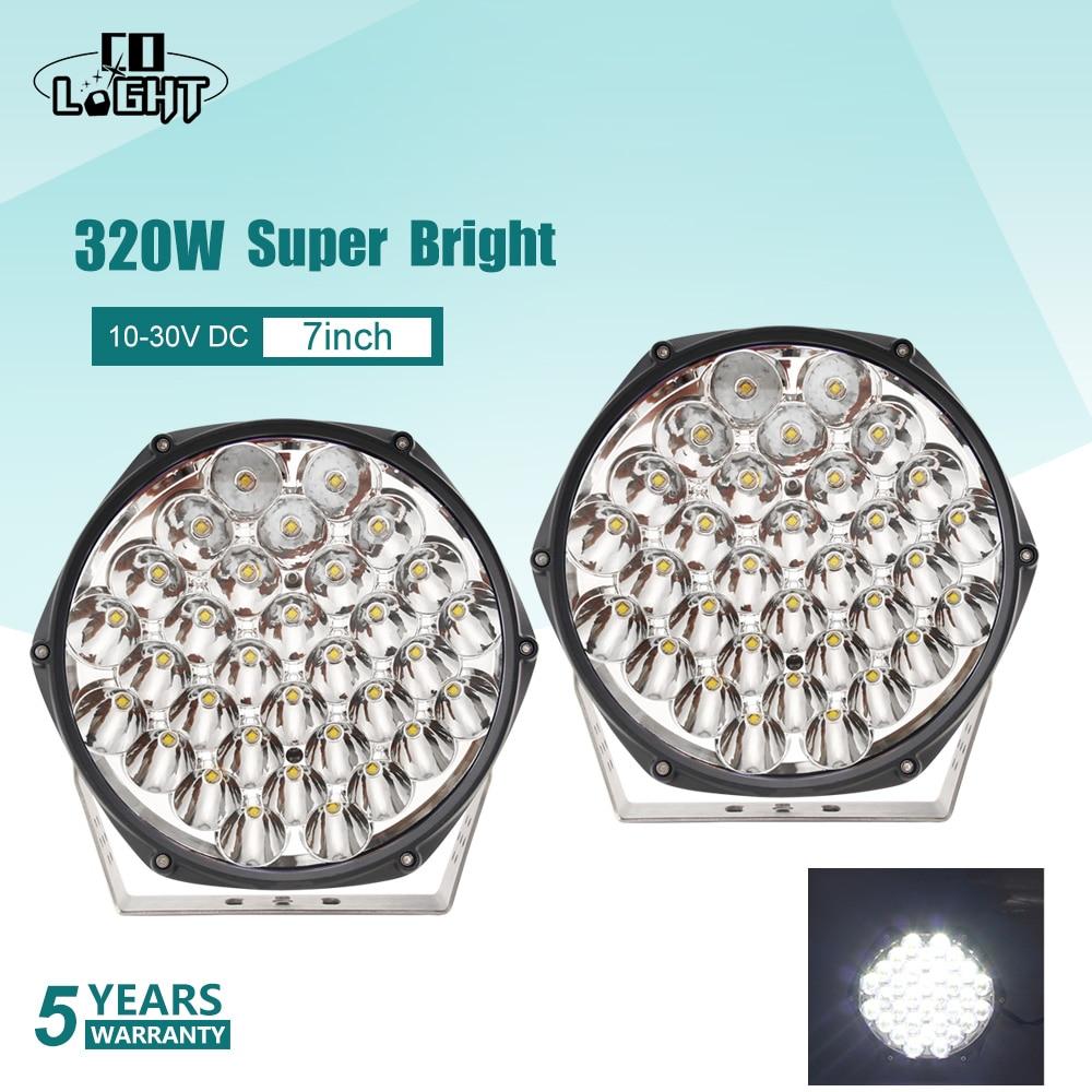 CO LIGHT-شريط إضاءة LED فائق السطوع 7 بوصات ، 320 وات ، مصباح عمل ، مصباح إضاءة للطرق الوعرة ، لـ 4WD ، 4x4 ، شاحنة ، SUV ، ATV ، قارب ، 12 فولت ، 24 فولت