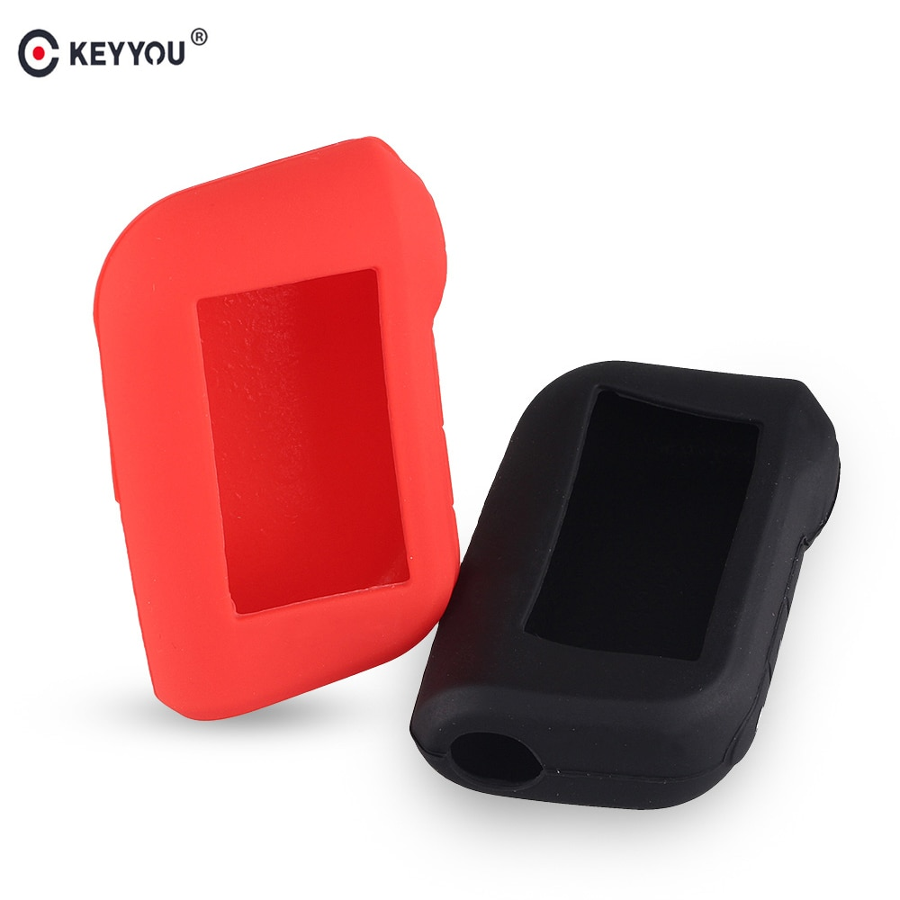 KEYYOU Silicone Auto Key Case for Starline A93 A63 Russian Version Two Way Car Alarm LCD Remote Cont