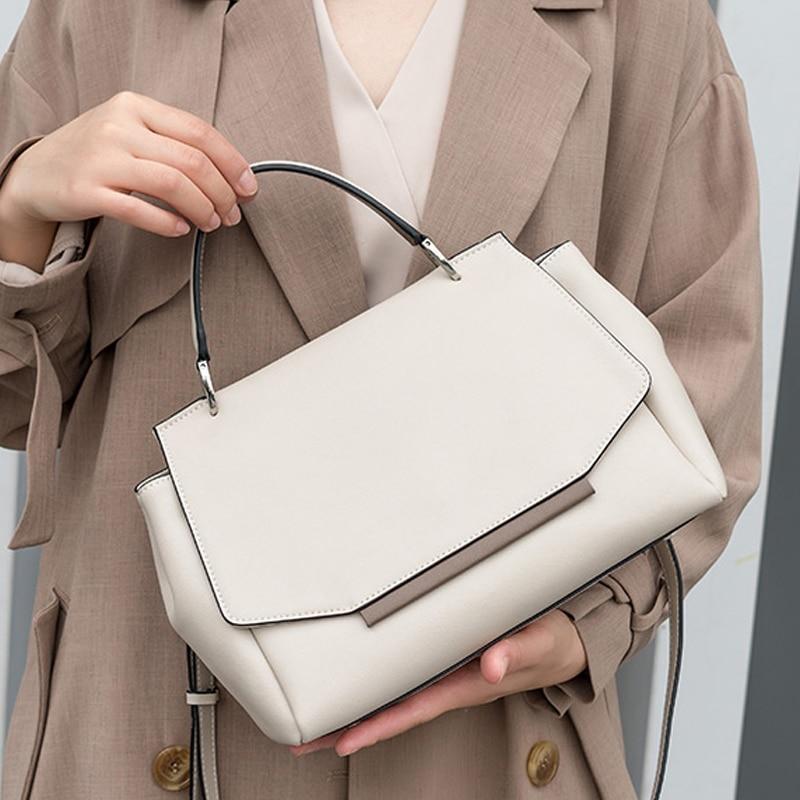 الفاخرة الكلاسيكية الإناث الكتف جودة جلد بلون حقيبة حقائب كبيرة قدرة Crossbody التسوق الكتف أكياس B43-41