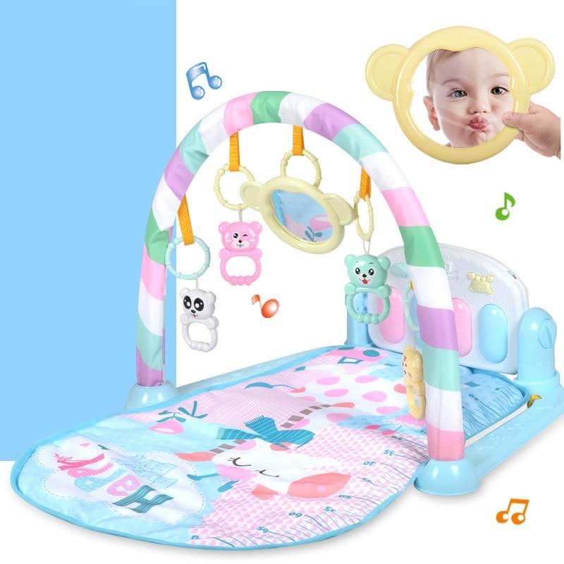 3 в 1 Детский развивающий коврик пазл с клавиатурой пианино Детские