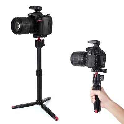 Mini trípode precioso de viaje de sobremesa con cabezal de bola para Canon Nikon Sony A7S Cámara videocámara Smartphone