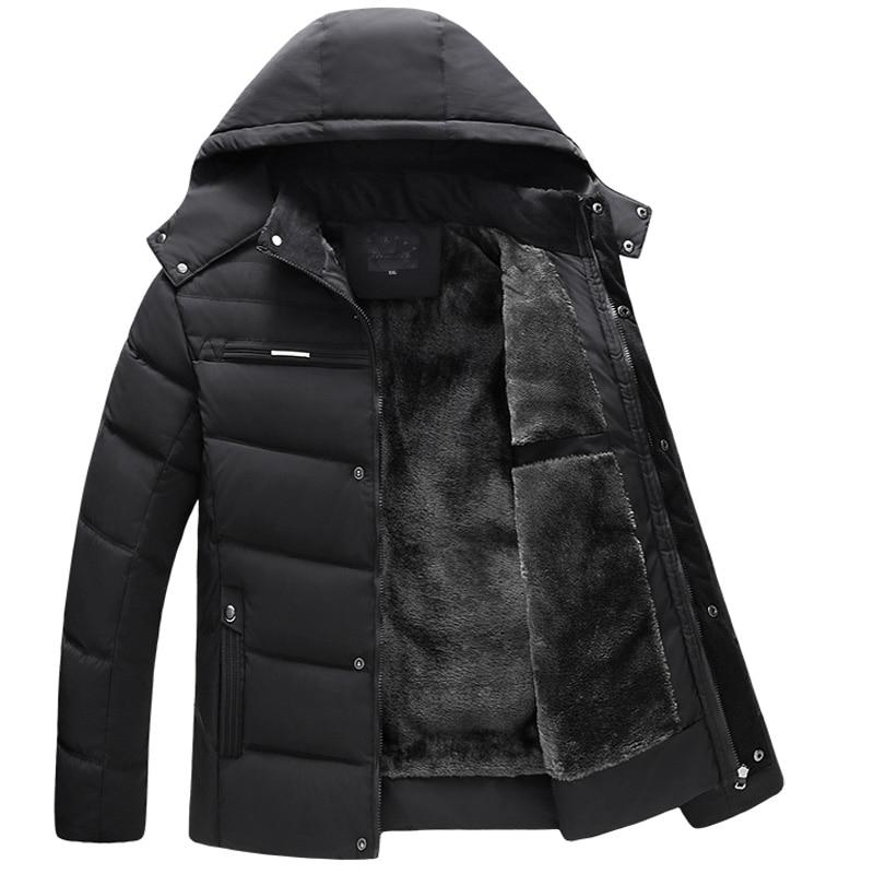 winter jacket 2019 thick men herren jacke coats hooded padded cotton detachable plus size velvet