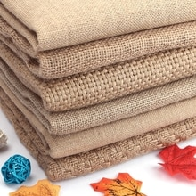 50x150 cm Doğal Jüt Çuval Bezi Kumaş Placemats Için Çanta Masa Örtüsü Arka Plan Dekorasyon Örgü Keten Tekstil Kumaş Costura Stof