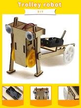 Robot de marche électrique 2WD chariot voiture Kit de bricolage technologie physique expériences enfant scientifique découverte cadeaux éducatifs