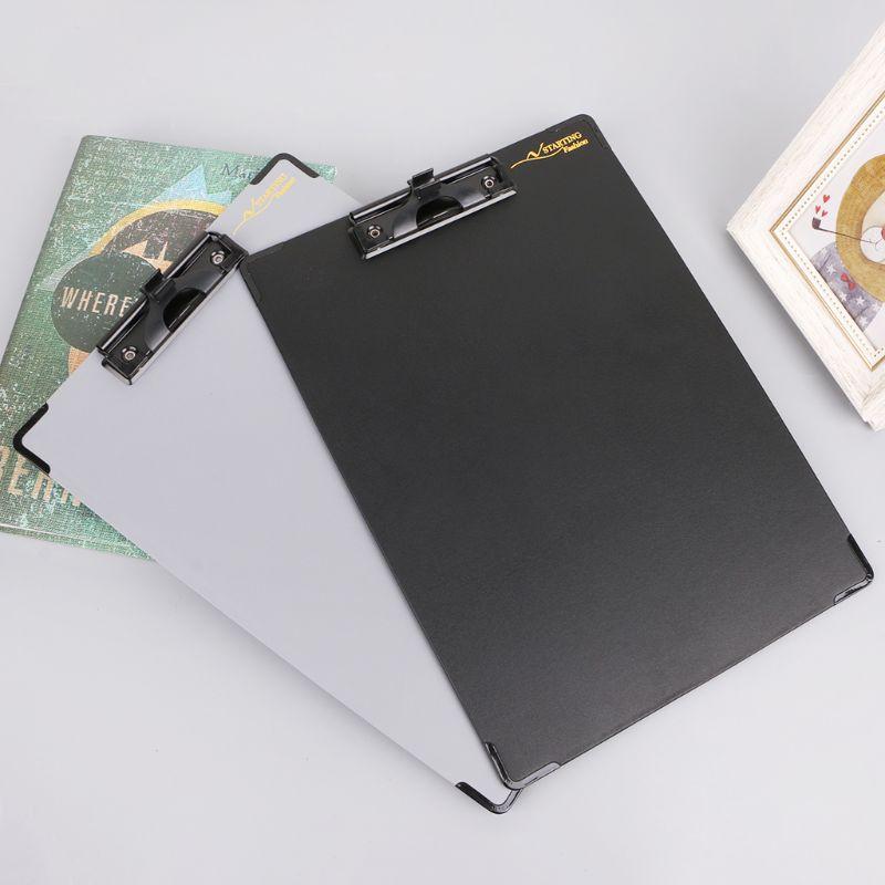 1 unidad de papel A4 carpeta de archivos portapapeles tableta de escritura a mano organizador de firma de conferencia con portalápices negro