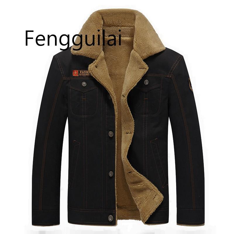 Мужская куртка 2019, зимняя куртка-бомбер в стиле милитари, мужская куртка, мужское пальто, Мужская черная куртка-бомбер, мужское плотное паль...
