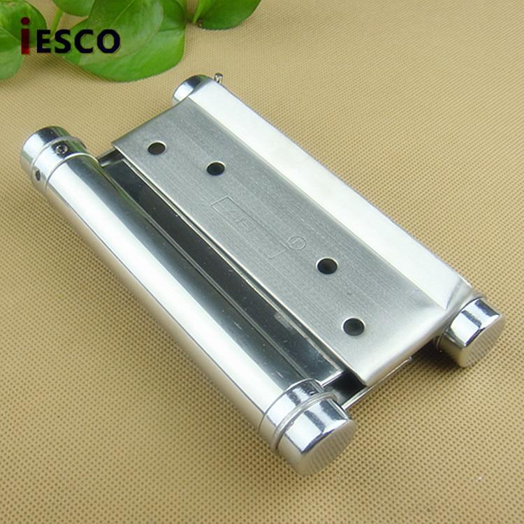 مفصلة زنبركية ثنائية الاتجاه من الفولاذ المقاوم للصدأ ، 5 بوصات ، مفتوحة للباب