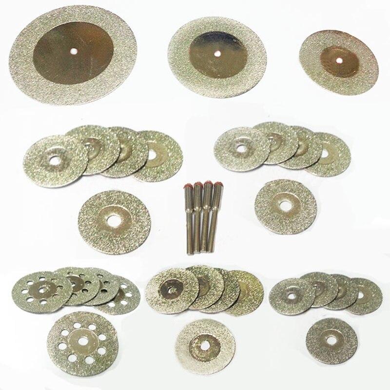 Алмазный шлифовальный круг, алмазный режущий диск, Аксессуары dremel, набор лезвий для мини-пилы, роторный инструмент, шлифовальный, полировал...