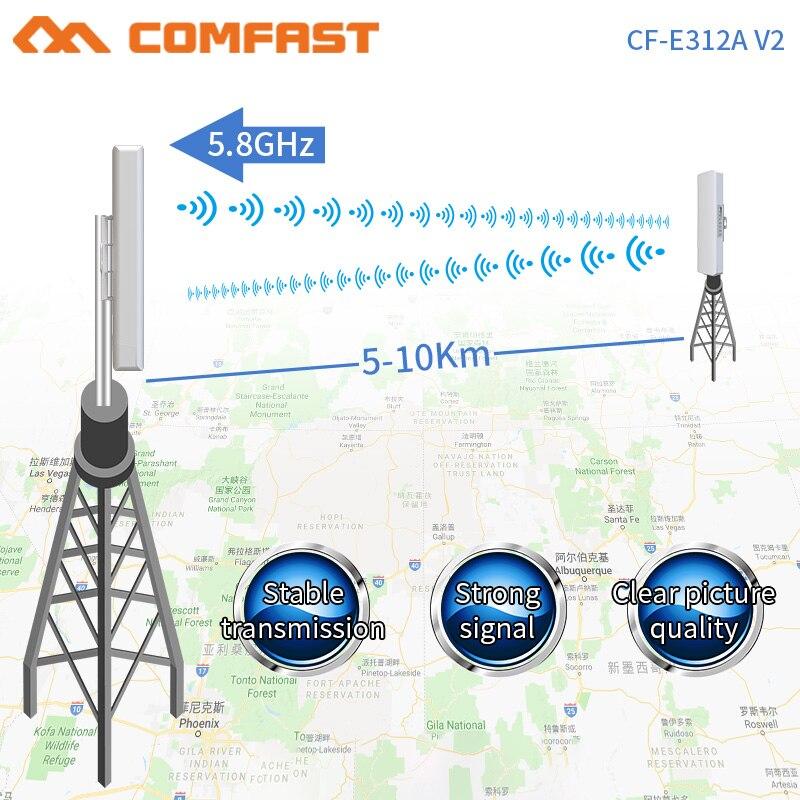 COMFAST-enrutador de CF-E312V2Wireless para exteriores, amplificador de señal WIFI de 5Ghz, antena...