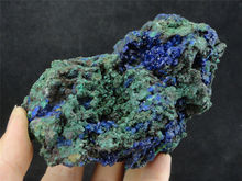 565g ZIEMLICH TOP NATÜRLICHE Blaue AZURIT Kristall & GRÜN MALACHIT Mineral Probe
