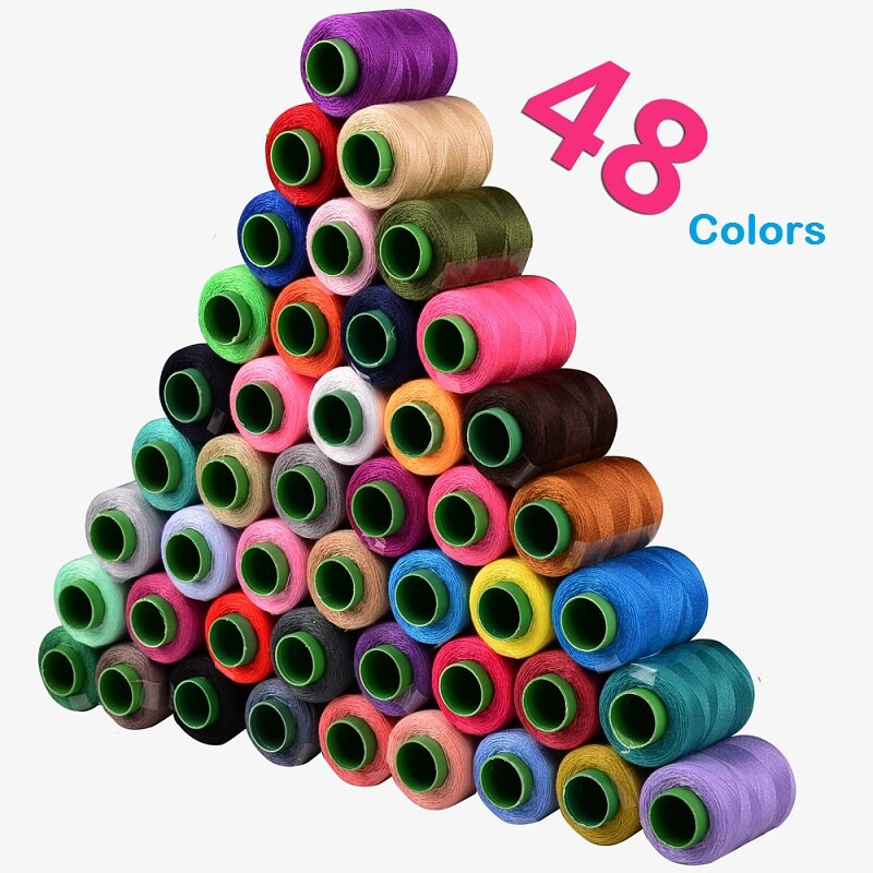 Hilos de coser a mano DIY 1 Uds. Para máquina poliéster diferentes colores por paquete útil para la vida diaria