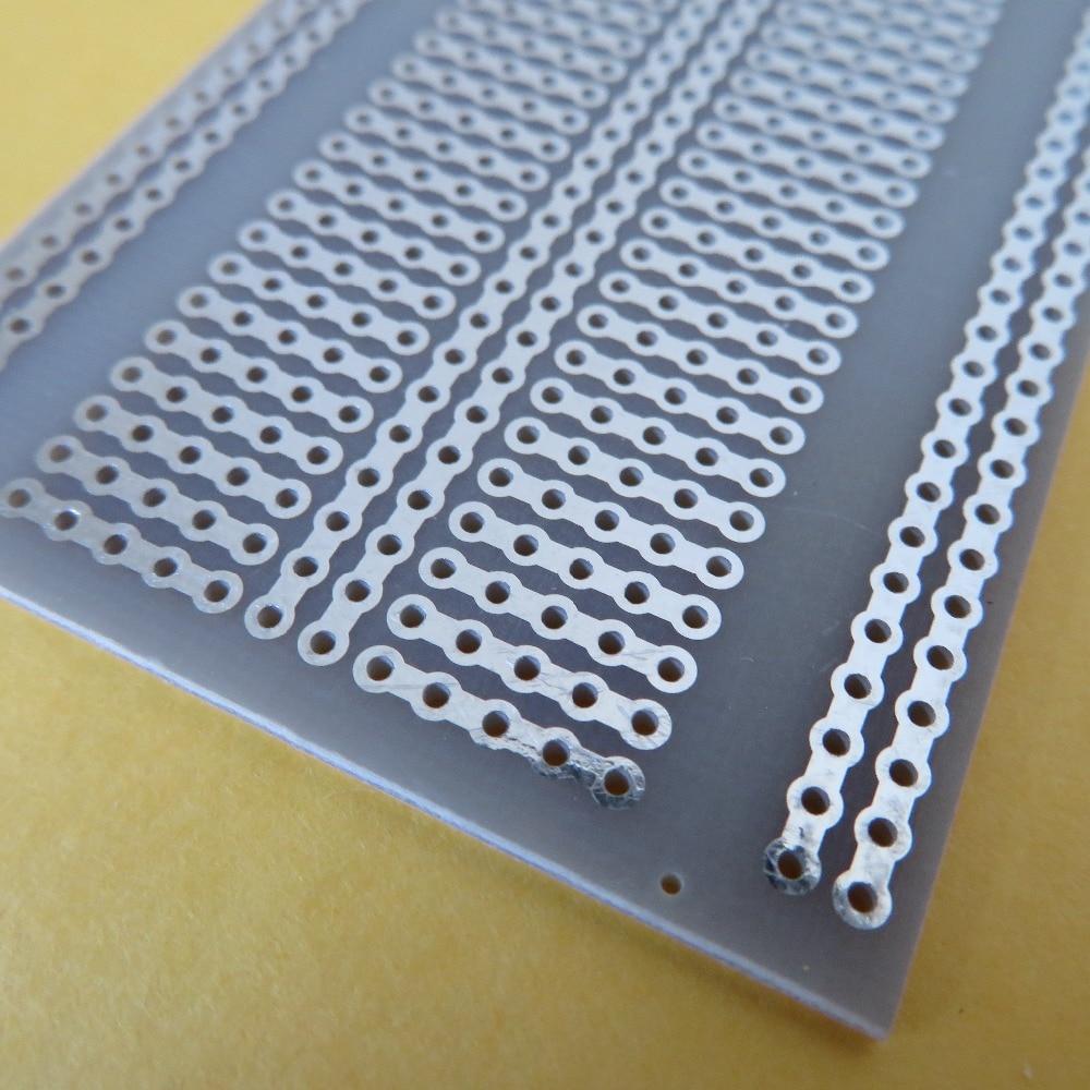 2 шт. 5x7 см 5er соединительные отверстия FR4 стекловолокно прототипирование печатная плата Stripboard Veroboard Platine макетная плата эксперимент pcb