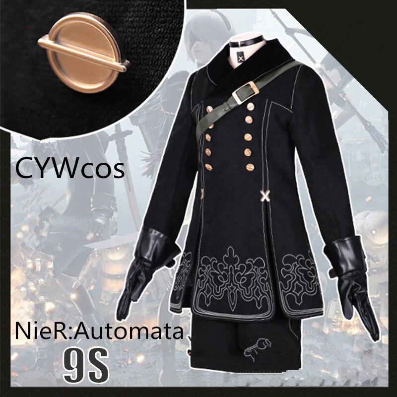 Nier automata yorha no.9 tipo s 9 s cosplay uniformes traje masculino trajes de halloween ternos