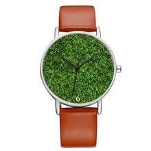 B9046 BAOSAILI женские часы с принтом зеленой травы, женские часы из натуральной кожи для подарка на Рождество