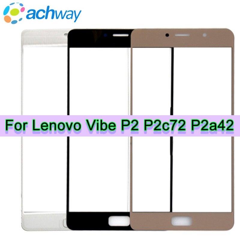 Lenovo vibe P2 P2a42 P2c72 frente de Lentes de vidrio exterior Panel táctil de reemplazo de la cubierta 5,5 para Lenovo vibe P2 frente lente de la pantalla