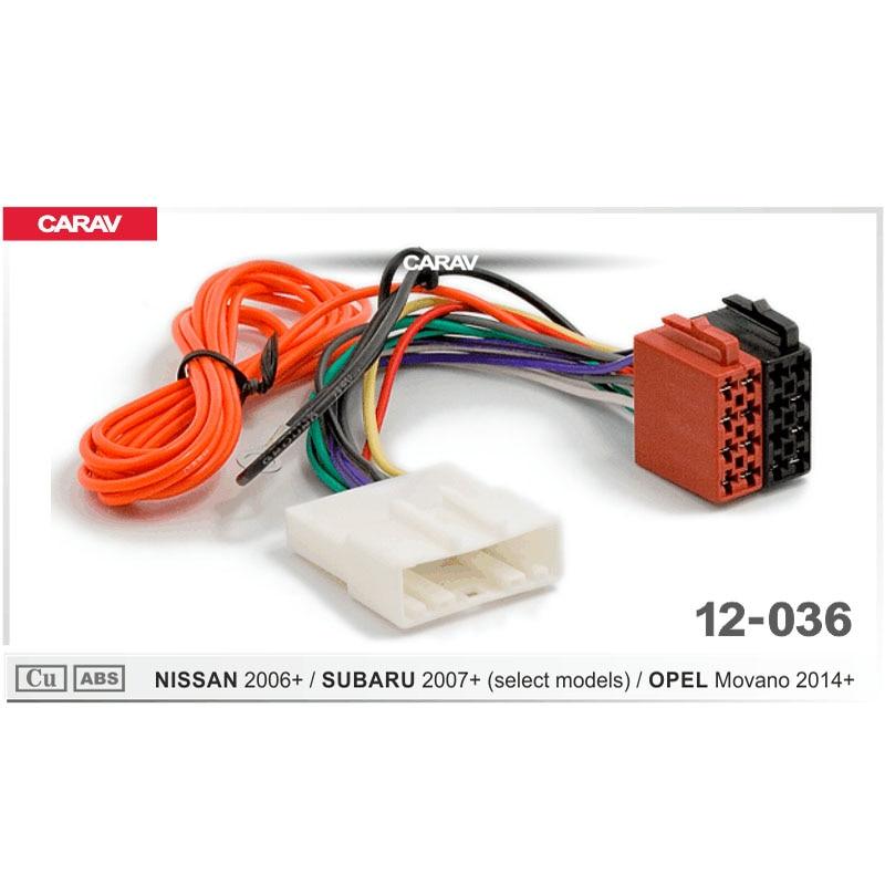 CARAV 12-036 Rádio ISO para NISSAN para SUBARU (alguns modelos) para OPEL Movano F-Chicote de Fiação Cabo de Fio Adaptador de Plugue Estéreo